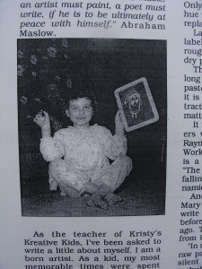 Kristy at age 6