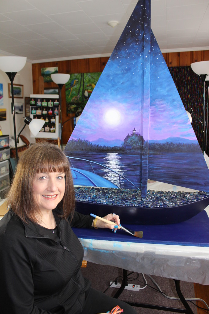 Painted Sailboat by Kristy Bishop (c) 2018